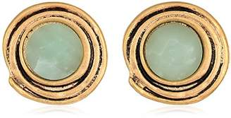The Sak Women's Swirl Stone Clip-On Earrings