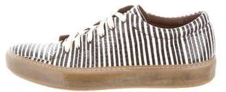 Acne Studios Adrian Snakeskin Low-Top Sneakers