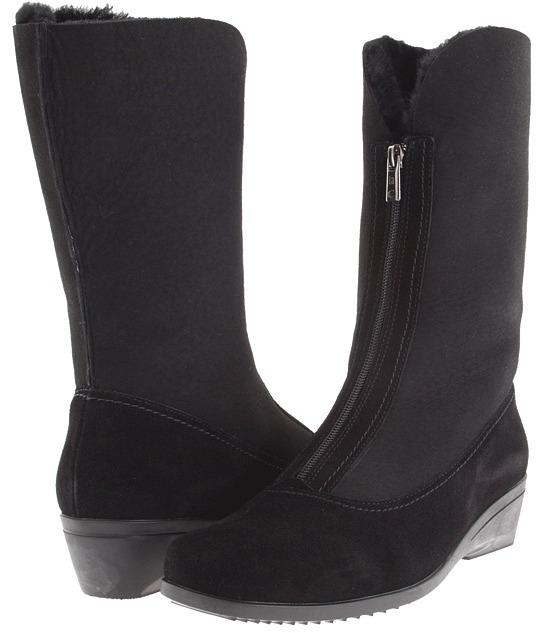 La Canadienne Essie (Black Suede/Sueded Shearling) - Footwear