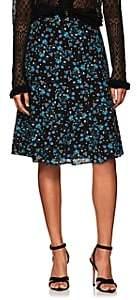 Altuzarra Women's Caroline Floral Silk Skirt - Black