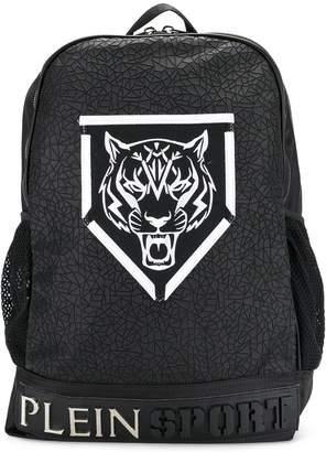 Plein Sport logo print backpack