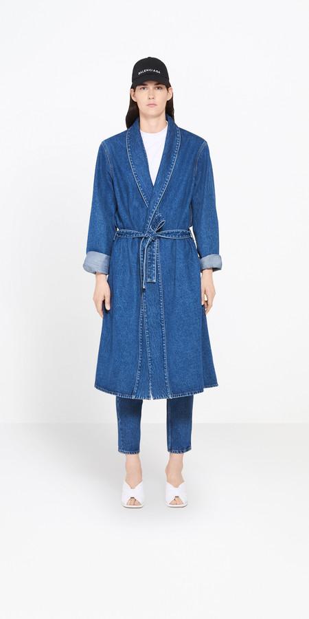 Balenciaga Denim Robe Coat