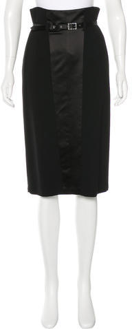 Blumarine Blumarine Silk Knee-Length Skirt