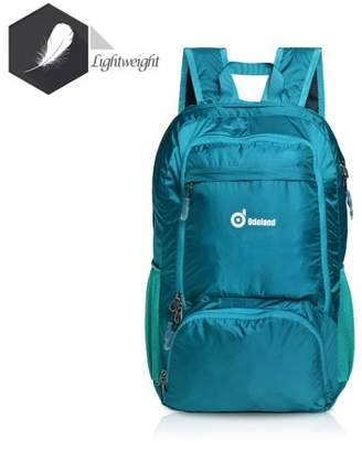 AGPtek Foldable Lightweight 35L Backpack Multiple Storage Compartments Folding Daypack Water Resistant Fabric Outdoor Green
