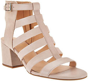 Franco Sarto As Is Franco Leather Multi-strap Open Toe Sandals - Mesa $59 thestylecure.com