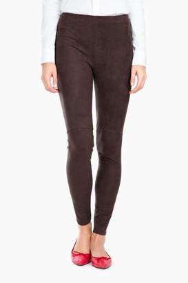 Lysse Espresso High Waist Suede Leggings