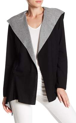 Cable & Gauge Open Front Hooded Cardigan