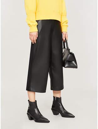 KITRI Remi wide-leg faux-leather trousers