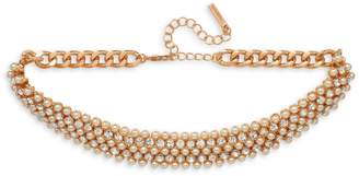 Cezanne 4mm Pearl and Goldtone Choker Necklace