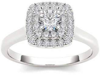 Imperial Diamond Imperial 1/2 Carat T.W. Diamond 10kt White Gold Double Halo Engagement Ring