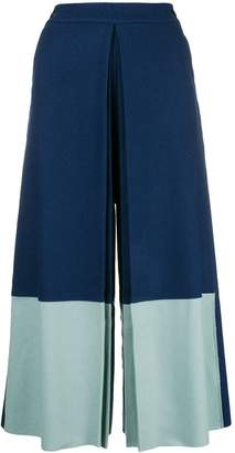 BODICE merino wool Box-Pleated Culottes