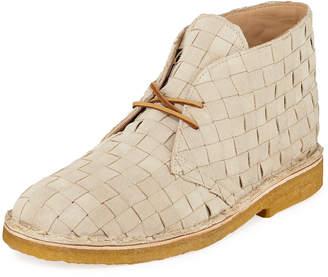 Men's Woven Leather Desert Boot