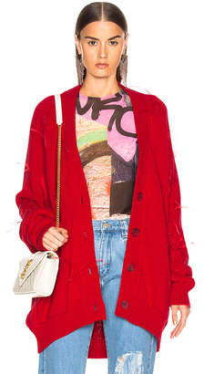 Marques Almeida Marques ' Almeida Oversized Cardigan in Red | FWRD