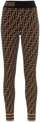 Fendi Zucca print leggings