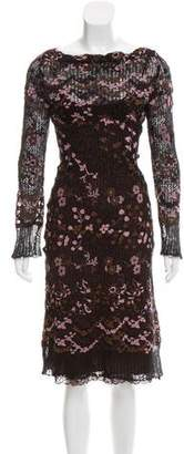 Collette Dinnigan Embroidered Mohair Dress