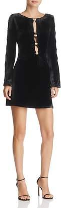 For Love & Lemons Beatrix Embellished Velvet Dress