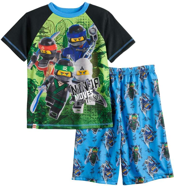 Boys 4-12 Lego Ninjago Movie 2-Piece Pajama Set