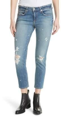 Rag & Bone Dre Ripped Ankle Slim Boyfriend Jeans (Lucky)