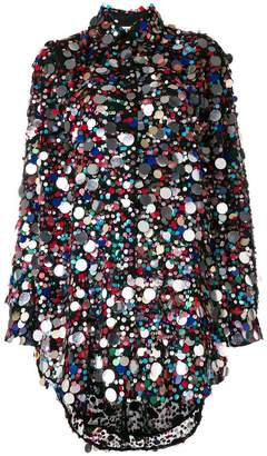 MSGM paillette embellished dress