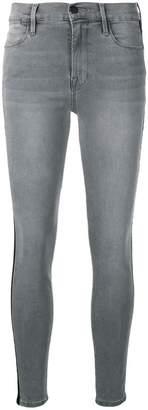 Frame side stripe skinny jeans