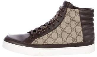 Gucci GG Supreme High-Top Sneakers