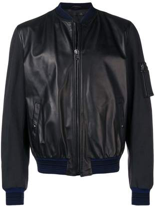 Lanvin panelled bomber jacket