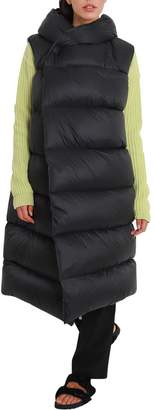 Rick Owens Long Down Vest With Hood