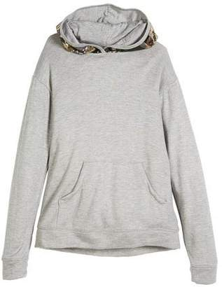 Flowers by Zoe Sequin Camo Hood Sweatshirt, Size S-XL
