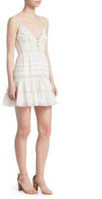 Zimmermann Iris Lace Trim Mini Dress