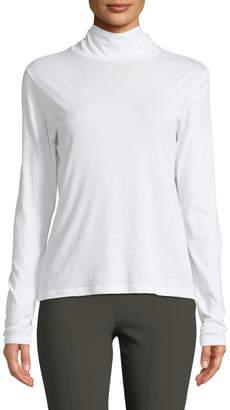 Vince Long-Sleeve Cotton Turtleneck Sweater