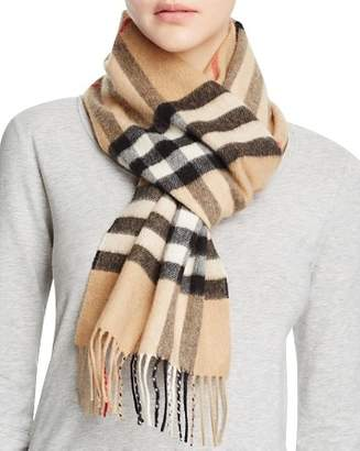 Burberry Giant Icon Check Cashmere Scarf 6c02810b0ca15