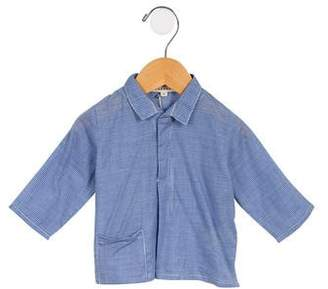 Caramel Baby & Child Boys' Gingham Collared Shirt w/ Tags