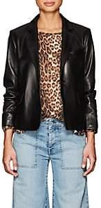 Nili Lotan Women's Morrison Leather Blazer - Black