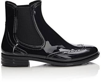 Barneys New York Women's Wingtip Rain Boots-BLACK $95 thestylecure.com