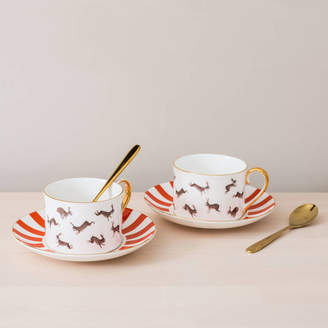bdb8e4cc65 Mister Berwyn Fox And Rabbits Bone China Teacup And Saucer