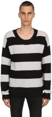 Blend of America Striped Mohair Wool Sweater