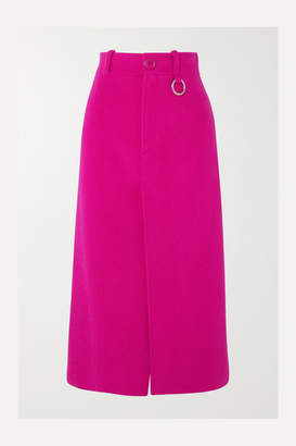 Balenciaga Wool-blend Midi Skirt - Bright pink