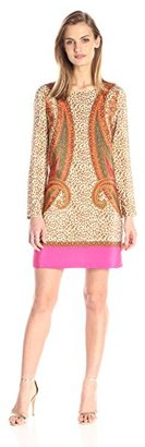 Juicy Couture Black Label Women's Sw Silk Kasbah Paisley Border Dress $298 thestylecure.com