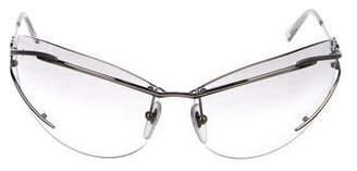 Salvatore Ferragamo Metal Gradient Sunglasses