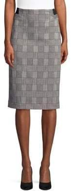 Context Plaid Pencil Skirt
