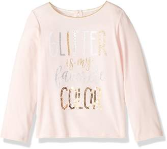 Mud Pie Baby Toddler Girls' Glitter Long Sleeve T-Shirt