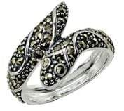 Lord & Taylor Sterling Silver and Marcasite Snake Ring
