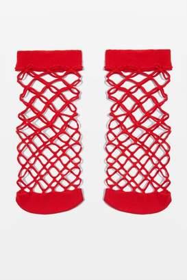 Topshop Oversized Fishnet Ankle Socks