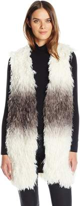 GUESS Women's Sleeveless Shiah Faux Fur Vest