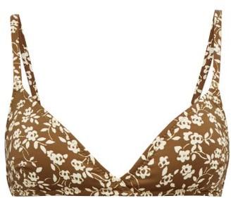 Dodo Bar Or Jenna Floral Print Bikini Top - Womens - Green Print
