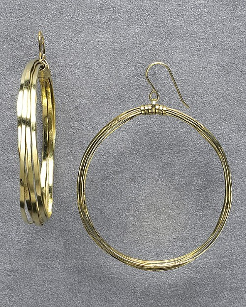 Citrine by the Stones Large Wire Hoops