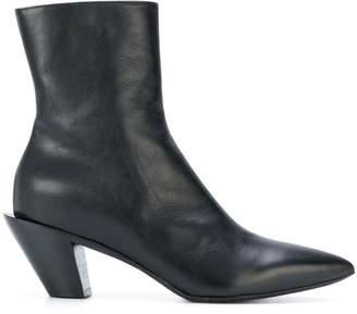 A.F.Vandevorst angled heel ankle boots