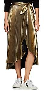 A.L.C. Women's Eleanor Pleated Lamé Skirt - Gold