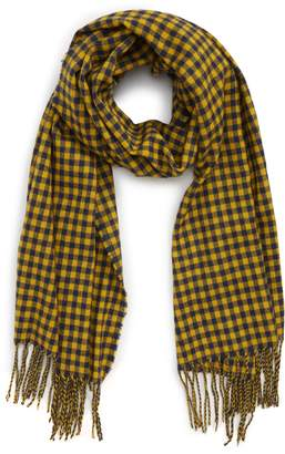Saachi Two-Tone Checkered Scarf
