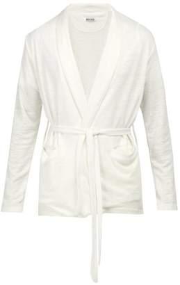 Hecho - Open Front Linen Cardigan - Mens - Ivory